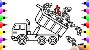 How To Draw Unloading Dump Truck With Cars Toys | Art Coloring Pages ... Dump Truck Coloring Page Free Printable Coloring Pages Drawing At Getdrawingscom For Personal Use 28 Collection Of High Quality Free Cliparts Cartoon For Kids How To Draw Learn Colors A And Color Quarry Box Emilia Keriene Birthday Cake Design Parenting Make Rc From Cboard Mr H2 Diy Remote Control To A Youtube