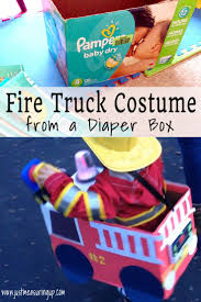 Making A Fire Truck Halloween Costume For Free (With Light