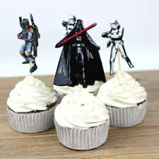 details about 24 pcs wars cake topper birthday cupcake stand up decoration supplies