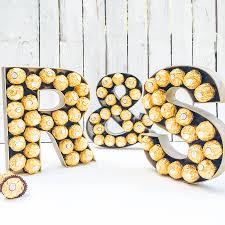 Ferrero Rocher Christmas Tree Box by Large Wooden Ferrero Rocher Letters By Sweet Trees
