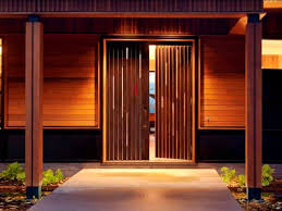 Modern Entry Exterior Double Doors With Wood Paneling Ideas For Rustic Style