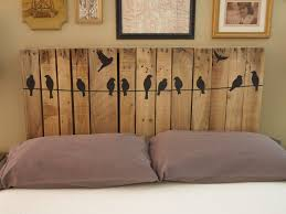 Image Of Easy Diy Pallet Headboard