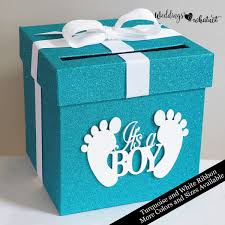 Baby Shower Glittered Card Box Choose Your Colors And Size