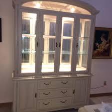 keller china cabinet buffet hutch sandstone solid oak glass door