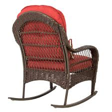 Patio Chair Pads Walmart by Wicker Rocking Chair Patio Porch Deck Furniture All Weather Proof