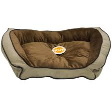 Petco Dog Beds by K U0026h Bolster Couch Pet Bed Mocha Tan Large 28