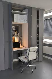 contemporary home office desk in a small nook