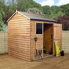 6 X 5 Apex Shed by 6 X 6 Walton U0027s Reverse Overlap Apex Wooden Shed Waltons Sheds