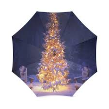 70OFF Custom Christmas Tree Compact Travel Windproof Rainproof Foldable Umbrella