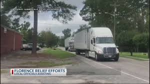 Summerville PD Delivers Tractor-trailers With Flooding Relief ...