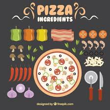 Ingredients To Make A Delicious Pizza Free Vector