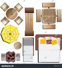 Outdoor Furniture Top View Set 15 For Landscape Design