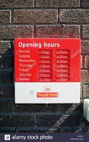 heure ouverture bureau poste heures d ouverture du bureau de poste banque d images photo stock