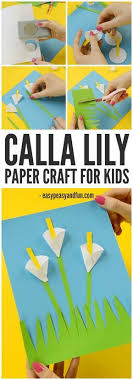 Calla Lily Paper Craft A Gorgeous Spring For Kids
