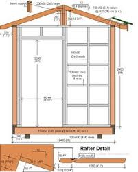 free shed plans 8x12 gable overhang eave jamb r and door