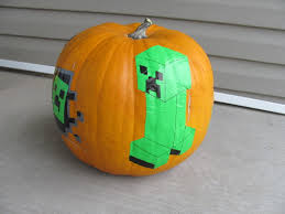 Minion Carved Pumpkins by Duct Tape Minecraft Pumpkins Diy Fun With Kids Pinterest