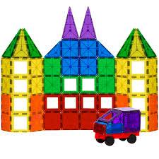 Magna Tiles 100 Black Friday by Bcp 100 Piece Clear Multi Colors Magnetic Tiles Building Set Car