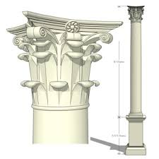 Classic Columns Smooth Shaft 3D Model FormFonts 3D Models