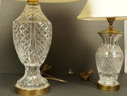 Swarovski Crystal Lamp Finials by Waterford Crystal Table Lamps Both Have Bras
