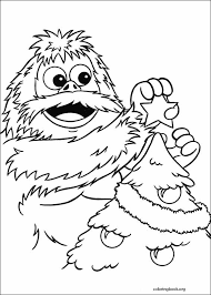 Rudolph The Red Nosed Reindeer Coloring Page 019 ColoringBookorg