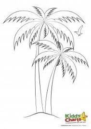 Palm Tree Colouring Sheet