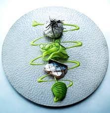 dressage des assiettes en cuisine couleurs gourmandes gastronomie gastronomy chef presentation
