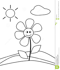 Coloring Pages For 5 Year Old Boy Flower Stock Images Image