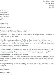 Business Analyst Cover Letter Example icover