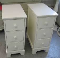 Narrow Bedside Tables With Drawers Small Home Decoration Ideas