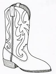 Cowboy Boots Coloring Page Boot Home To Download