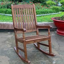 International Caravan Traditional Porch Rocking Chair Free