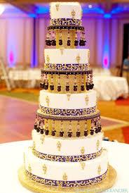 Soma Sengupta Indian Wedding Cakes White Gold And Purple Majesty