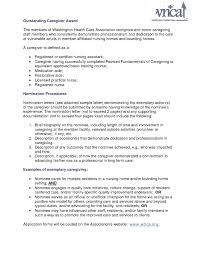 Resume Of Caregiver