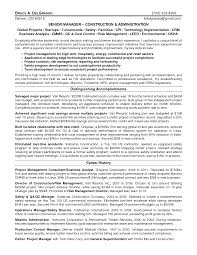 Construction Project Manager Resume 2016