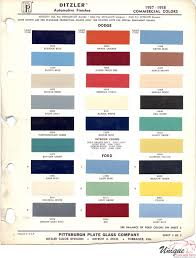 100 Ford Truck Colors S Paint Chart Color Reference