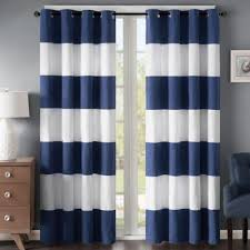 Navy And White Vertical Striped Curtains by Buy Navy White Curtains From Bed Bath U0026 Beyond