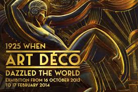 1925 Art Deco Poster When Dazzled The World Quand LArt Seduit