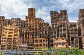 Stacks Of Pallets Resemble Buildings