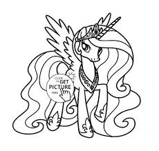 My Little Pony Coloring Pages Princess Celestia In A Dress 64