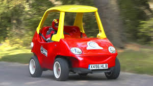 Little Tikes Cozy Coupe: Adult-sized Road-going Version! - YouTube