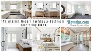 143 Amazing Modern Farmhouse Bathroom Decorating Ideas - Homiku.com Best Coastal Bathroom Design And Decor Ideas Decor Its Small Decorating Hgtv New Guest Tour Tips To Get Your 23 Pictures Of Designs Bold For Bathrooms Farmhouse Stylish Inspire You Diy Bathroom Decorating Storage Ideas 100 Ipirations On A Budget Be My With Denise 25 2019 Colors For
