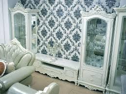 barock wohnwand schrank vitrine tv tisch wohnzimmer deko neu