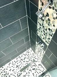Best Tile For Shower Floor River Rock Bathroom Impressive Pebble Ideas On In Til Wall