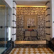 Blue Mosaic Bathroom Mirror by And Brown Glass Mosaic Tile Bathroom Wall Backsplash Tile Design 2