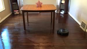 Roomba Hardwood Floor Mop by Irobot Scooba 450 Floor Mopping Robot Follow Up Youtube