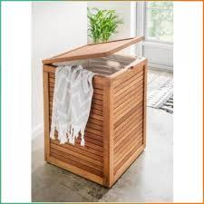 wäschebox holz aus massivem teakholz aufbewahrungsboxen