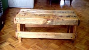 OLD PALLETS PROJECT DIY Little BENCH COFFEE TABLE SIDE Made With RECYCLED
