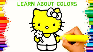 TEACHING CHILDREN HOW TO DRAW PAINT HELLO KITTY COLORING PAGES