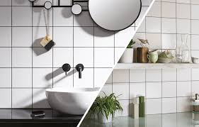 White Kitchen Tiles Ideas White Square Tile Ideas Small Or Large Format Industrial