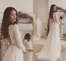 Modest Wedding Dresses With Sleeves Rustic Lace Country Dress Vestidos De Noivas Para Backless Bridal Gowns Cheap